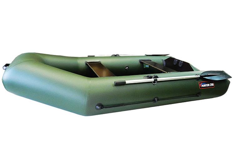 надувная лодка hunterboat хантер 290 лк серый