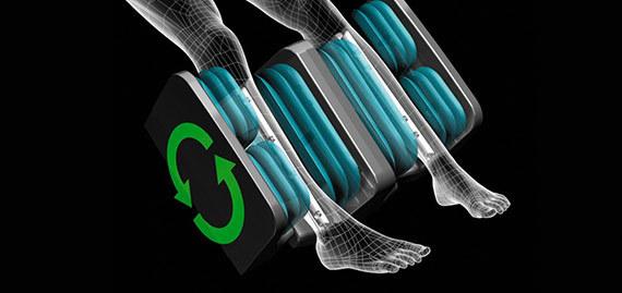 Инновационный роторный массаж ног
